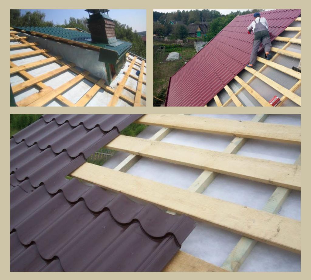 Обрешетка крыши из обрезной доски